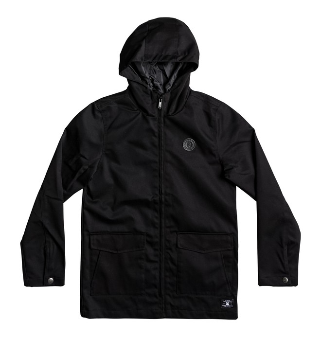 0 Kid's Exford Hooded Water Resistant Jacket Black EDBJK03024 DC Shoes