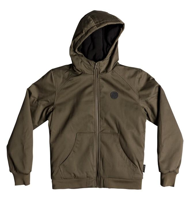 0 Ellis - Water-Resistant Hooded Jacket for Boys 8-16 Green EDBJK03035 DC Shoes