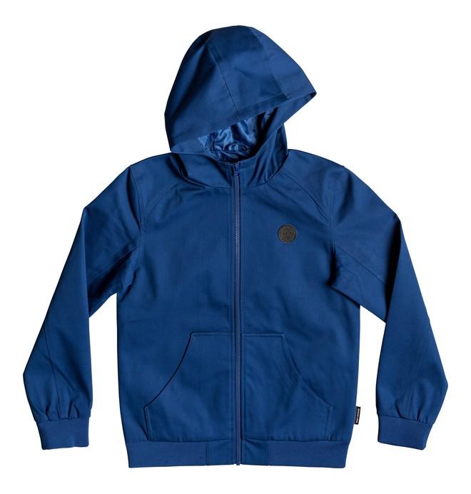 0 Boy's 8-16 Ellis Water-Resistant Hooded Jacket Blue EDBJK03044 DC Shoes