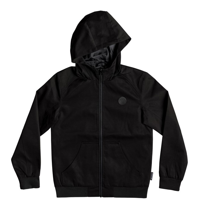 0 Boy's 8-16 Ellis Water-Resistant Hooded Jacket Black EDBJK03044 DC Shoes