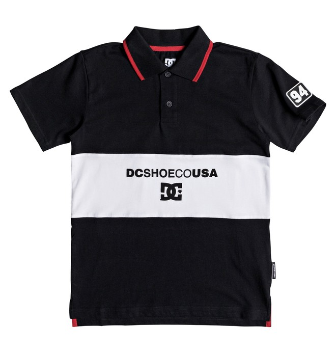 0 Boy's 8-16 Emerson Short Sleeve Polo Shirt Black EDBKT03101 DC Shoes
