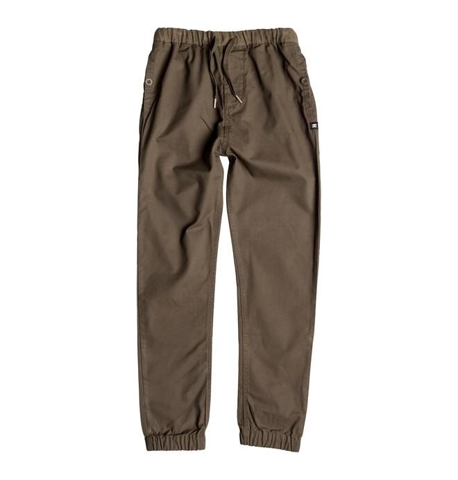 0 Langdale - Pantalon de jogging en sergé Beige EDBNP03004 DC Shoes