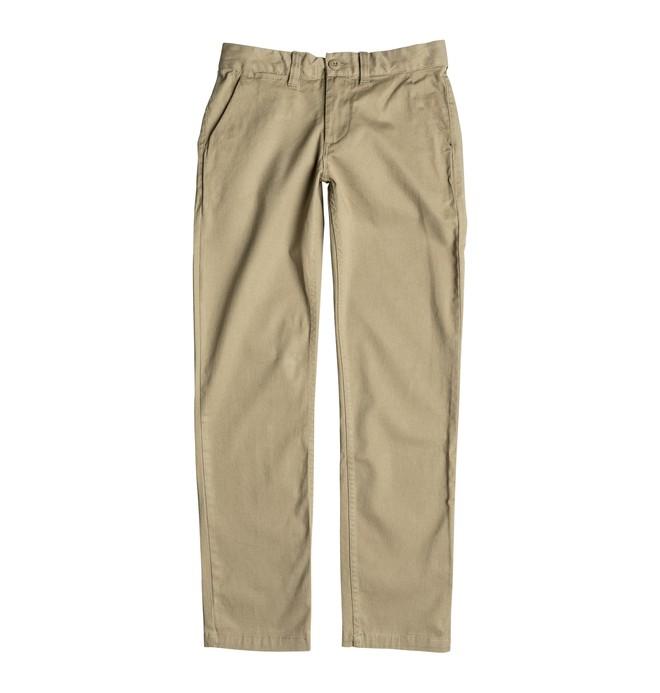 0 Niños 8-16 Pantalones Worker Straight Fit Beige EDBNP03006 DC Shoes