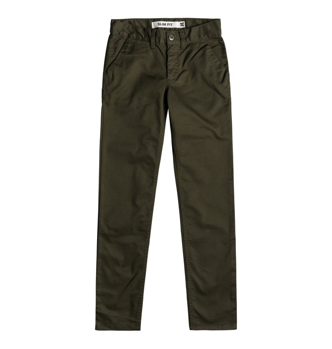 0 Boy's 8-16 Worker Slim Fit Chinos  EDBNP03021 DC Shoes
