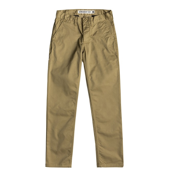 0 Boy's 8-16 Worker Straight Fit Chinos Brown EDBNP03022 DC Shoes