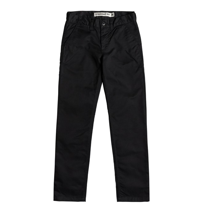 0 Boy's 8-16 Worker Straight Fit Chinos Black EDBNP03022 DC Shoes
