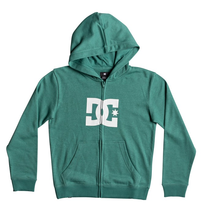 0 Star - Felpa con cappuccio e zip Green EDBSF03039 DC Shoes