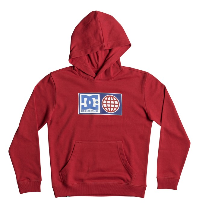 0 Global Salute - Hoodie for Boys 8-16 Red EDBSF03082 DC Shoes