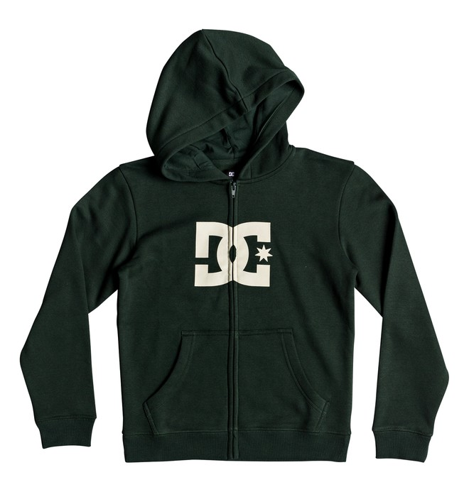 0 Star - Zip-Up Hoodie for Boys 8-16 Green EDBSF03088 DC Shoes