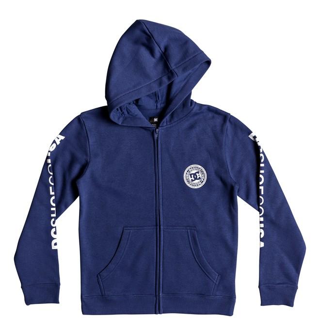 0 Circle Star - Sweat à capuche zippé pour Garçon 8-16 ans Bleu EDBSF03091 DC Shoes