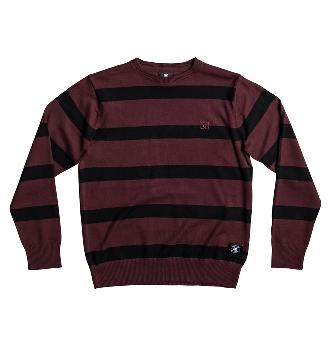0 Sabotage Stripe - Sweat Rouge EDBSW03012 DC Shoes