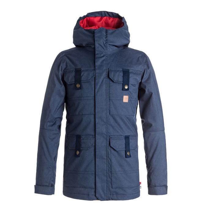 0 Boy's 8-16 Servo Snow Jacket Blue EDBTJ03017 DC Shoes