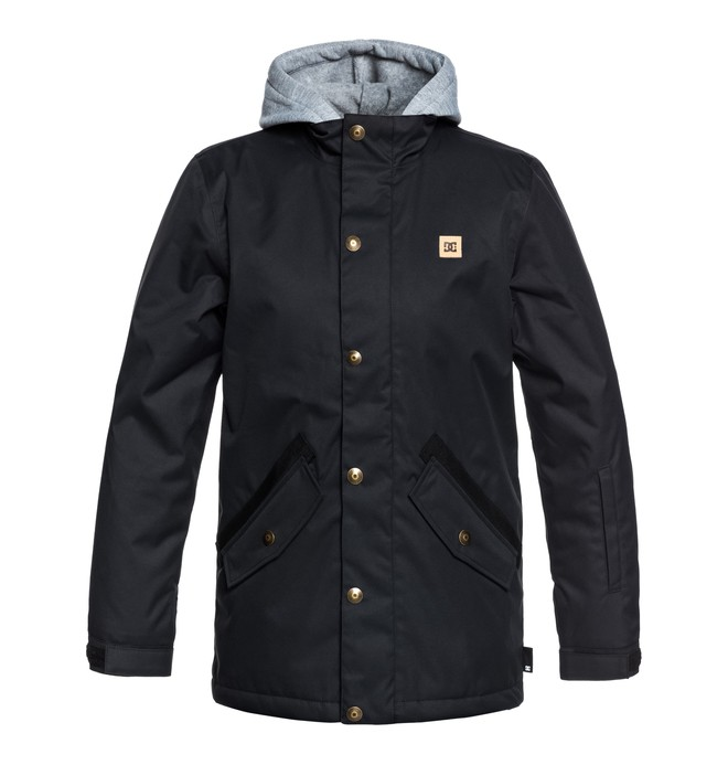 0 Boy's 8-16 Union Snow Jacket Black EDBTJ03025 DC Shoes