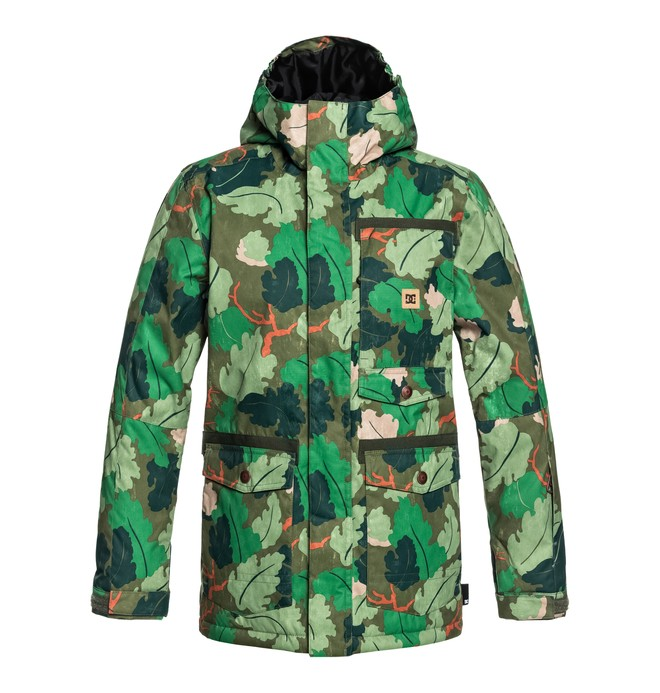 0 Boy's 8-16 Servo Snow Jacket Green EDBTJ03026 DC Shoes