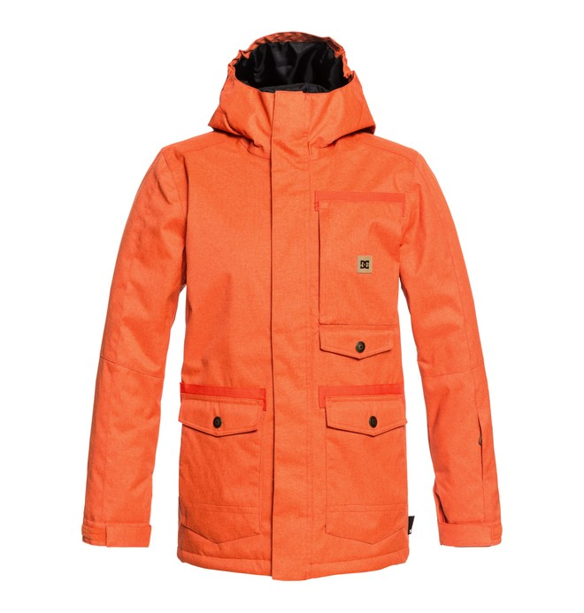 0 Boy's 8-16 Servo Snow Jacket Orange EDBTJ03026 DC Shoes