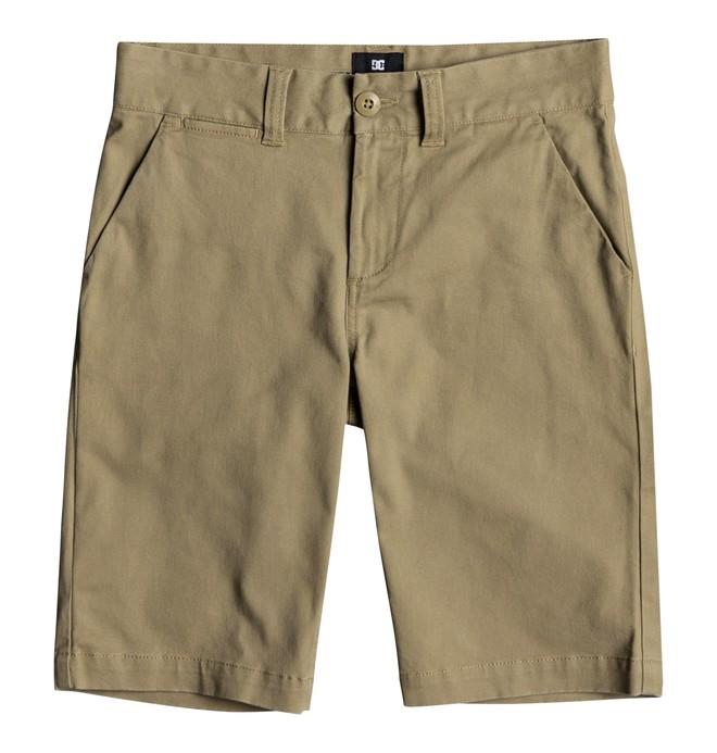 0 Worker - Short Chino para Chicos 8-16 Marrón EDBWS03045 DC Shoes