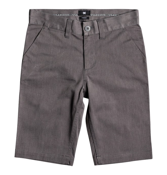 0 Boy's 8-16 Worker Heathered Chino Shorts Black EDBWS03046 DC Shoes