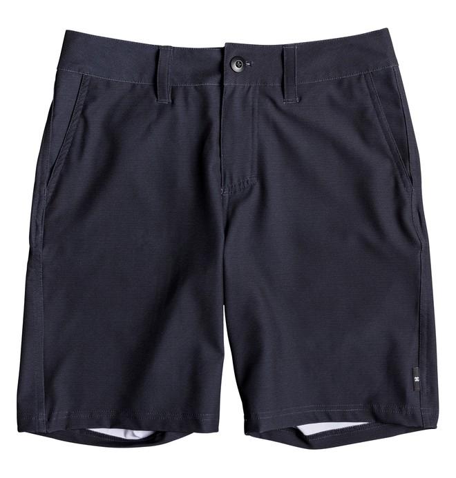 """0 Boy's 8-16 Base Camp 17"""" Amphibian Shorts Blue EDBWS03049 DC Shoes"""