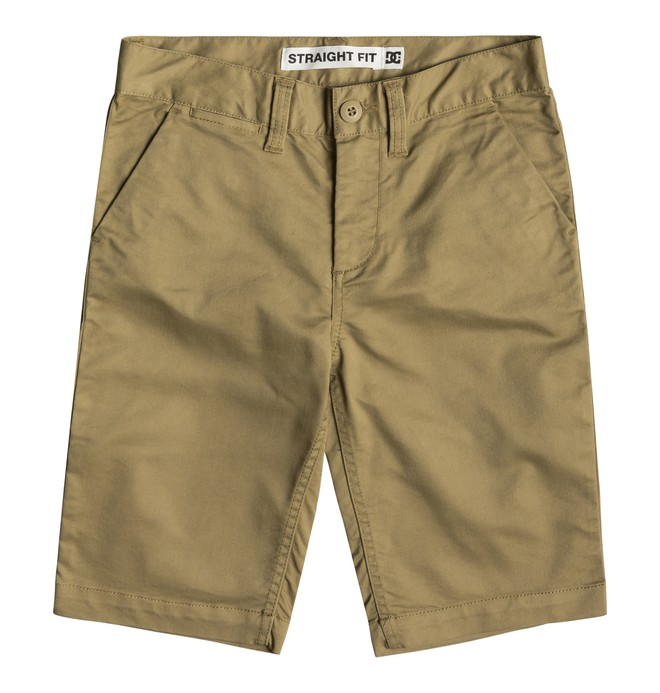 """0 Worker 18.5"""" Chino Shorts Brown EDBWS03052 DC Shoes"""