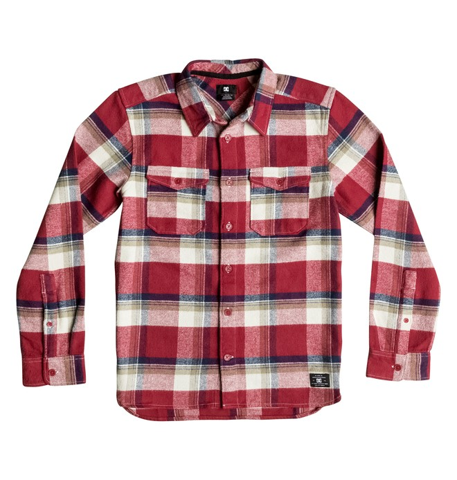 0 Marsha Flannel - Long Sleeve Shirt Red EDBWT03017 DC Shoes