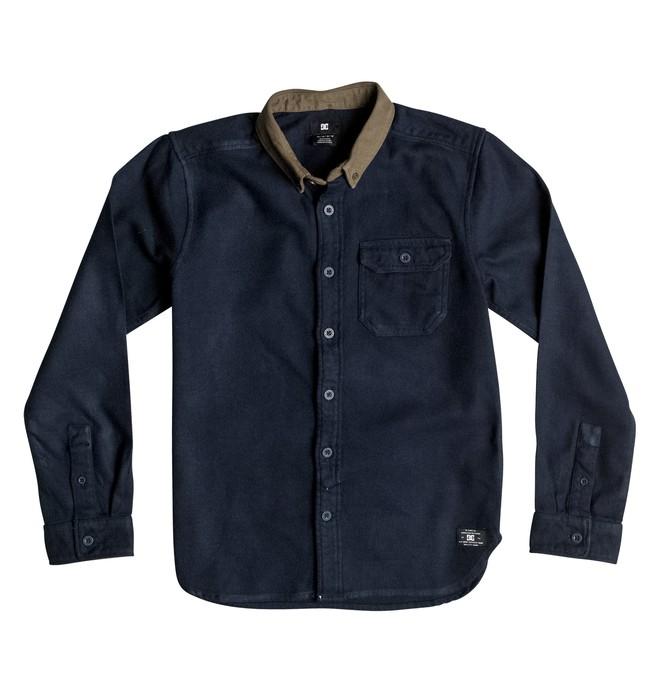 0 Wallingstone Flannel - Long Sleeve Shirt Blue EDBWT03019 DC Shoes