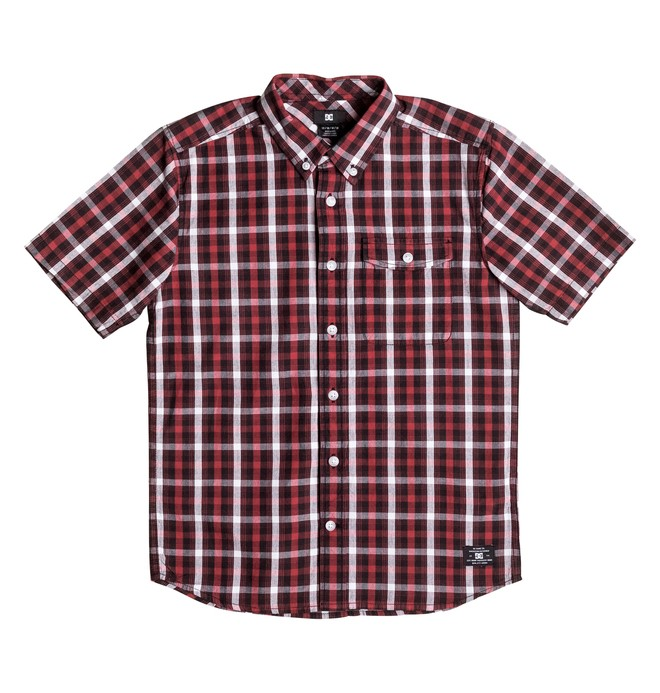 0 Boy's 8-16 Atura 4 Short Sleeve Shirt  EDBWT03028 DC Shoes