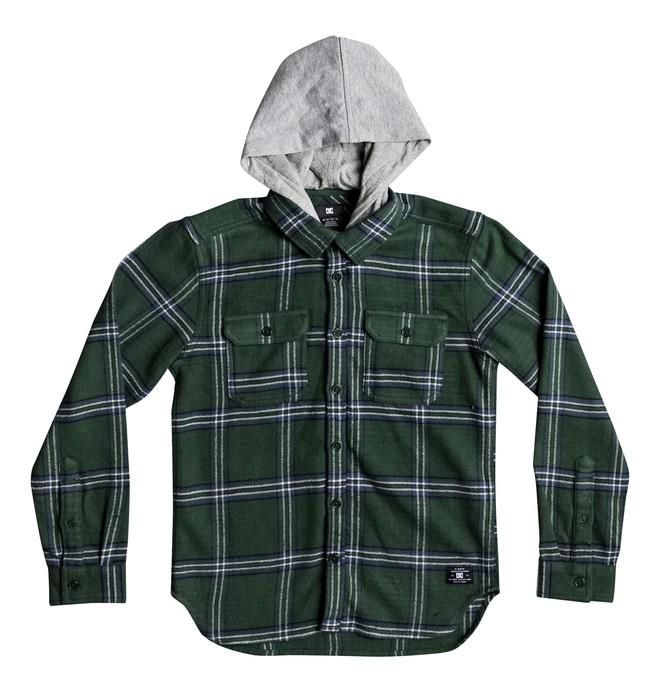 0 Kids Runnel Long Sleeve Hooded Shirt  EDBWT03038 DC Shoes