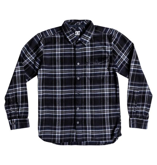 0 Boy's 8-16 Marsha Long Sleeve Flannel Shirt Blue EDBWT03047 DC Shoes