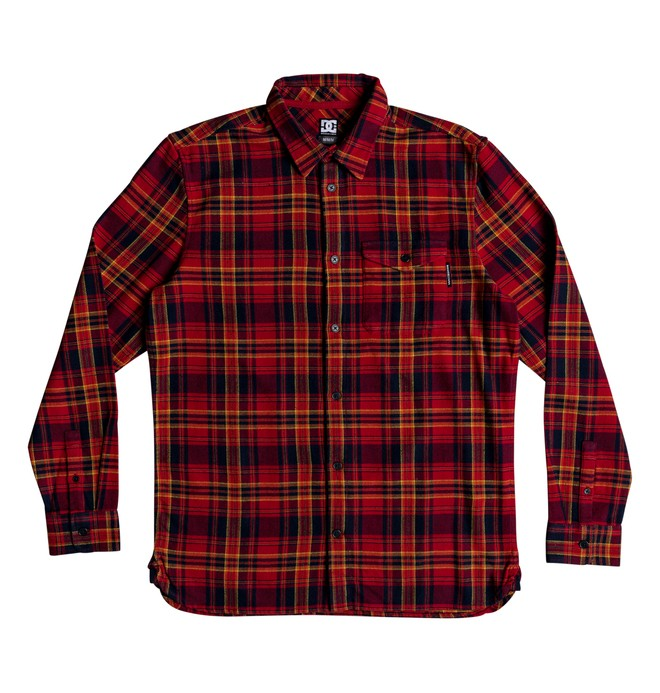 0 Boy's 8-16 Marsha Long Sleeve Flannel Shirt Red EDBWT03047 DC Shoes