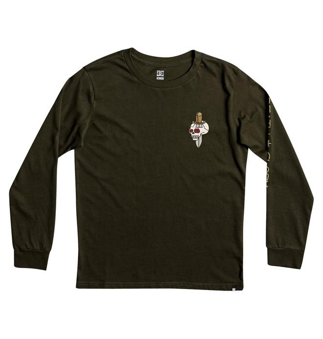 0 Death & Glory - T shirt à manches longues pour Garçon 8-16 ans  EDBZT03245 DC Shoes
