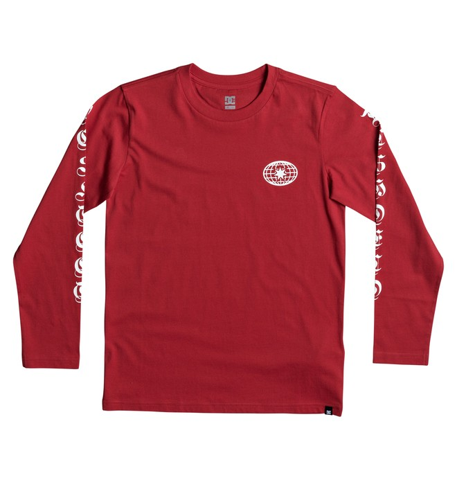 0 Boy's 8-16 Arise Collective Long Sleeve Tee Red EDBZT03253 DC Shoes
