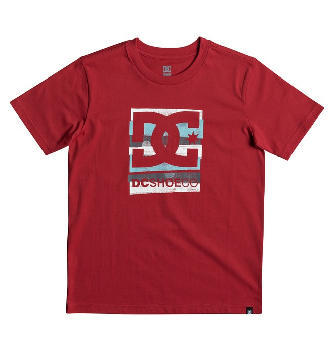 0 Rusted Panel - T-Shirt Red EDBZT03258 DC Shoes