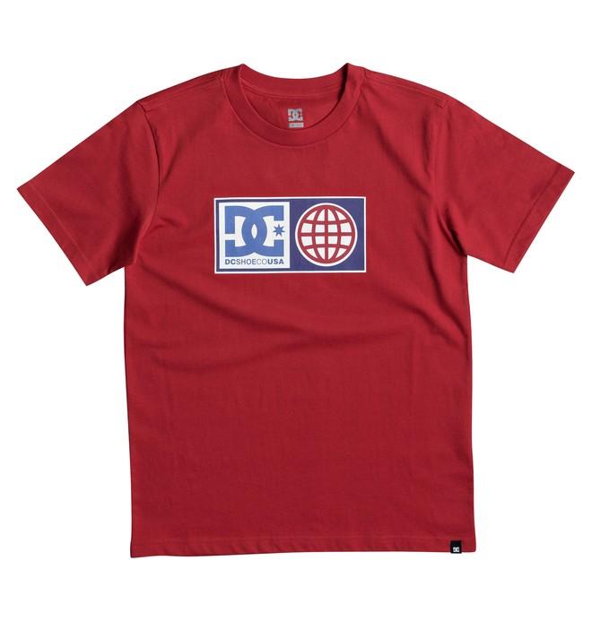 0 Global Salute - T Shirt col rond pour Garçon 8-16 ans Rouge EDBZT03273 DC Shoes