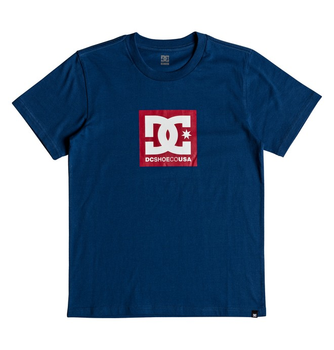 0 Boy's 8-16 Square Star Tee Blue EDBZT03281 DC Shoes