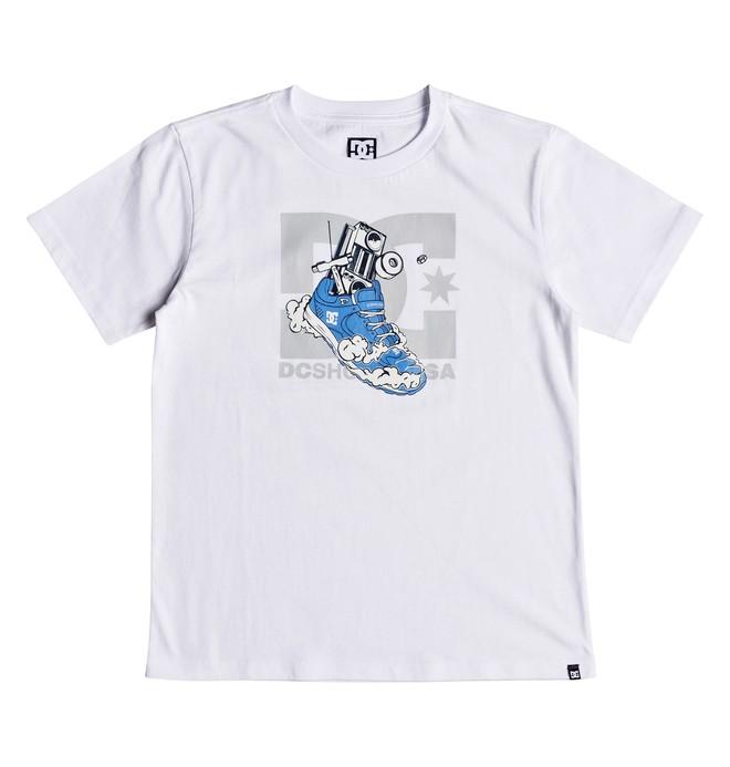 0 Kick Out - Camiseta para Chicos 8-16 Blanco EDBZT03294 DC Shoes