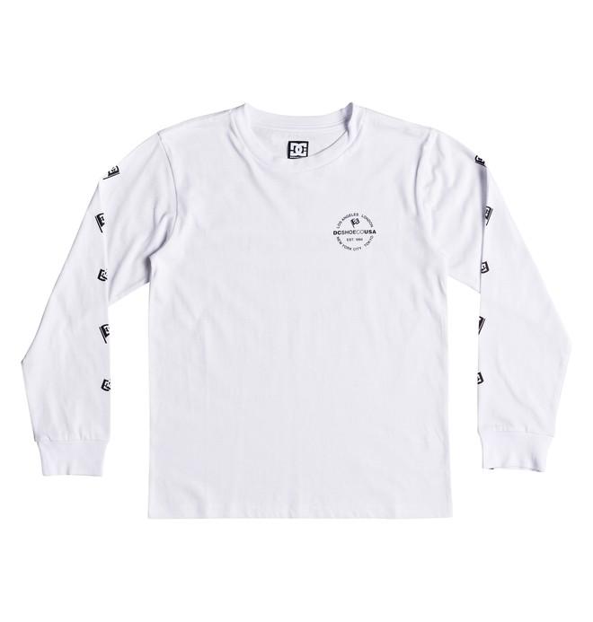 0 Worldwide Flag - Camiseta de manga larga para Chicos 8-16 Blanco EDBZT03303 DC Shoes