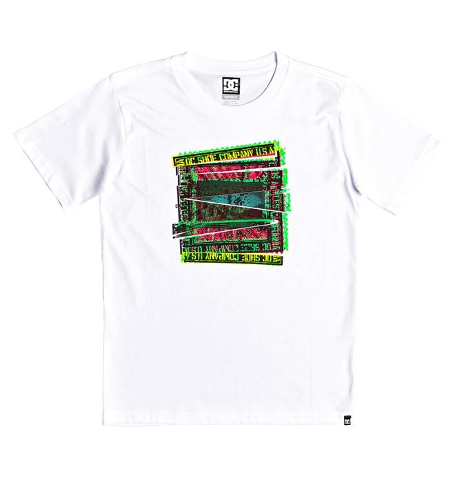 0 Slauson - T-shirt col rond pour Garçon 8-16 ans Blanc EDBZT03305 DC Shoes
