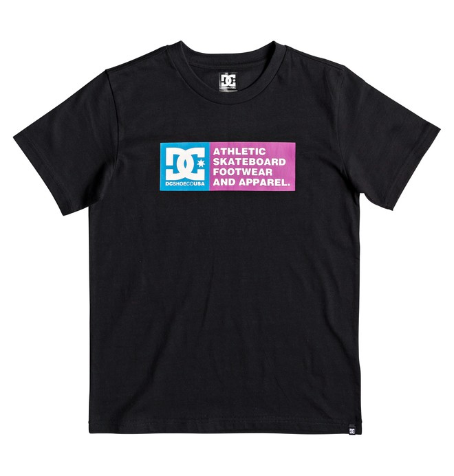0 Boy's 8-16 Vertical Zone Tee Black EDBZT03316 DC Shoes