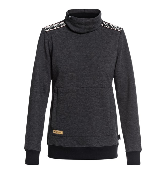 0 Women's Veneer Technical Roll Neck Sweatshirt Black EDJFT03059 DC Shoes