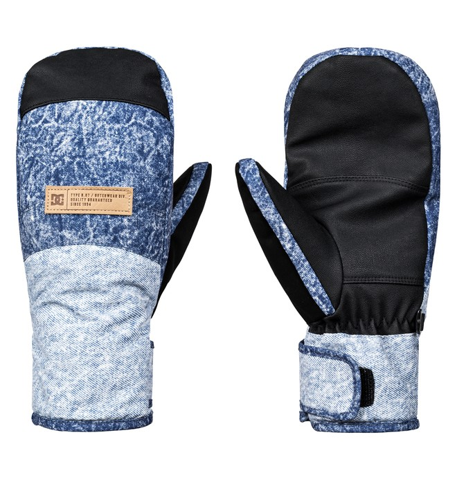 0 Women's Franchise Snowboard/Ski Mittens Blue EDJHN03011 DC Shoes