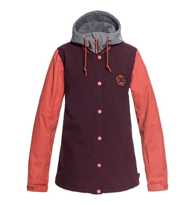 0 Women's DCLA Snow Jacket Red EDJTJ03034 DC Shoes