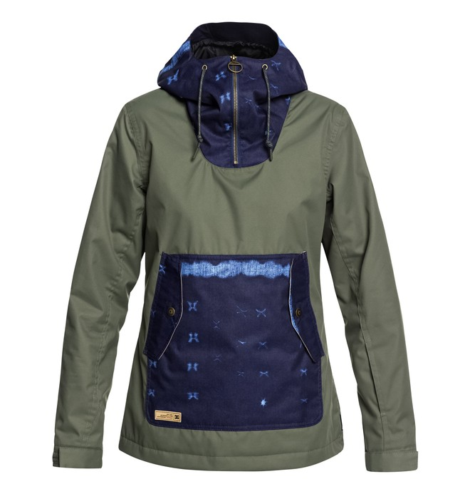 0 Women's Skyline Snow Jacket Green EDJTJ03038 DC Shoes