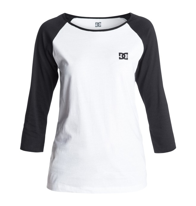 0 Women's Solo Woman Raglan Screen Tee  EDJZT03023 DC Shoes