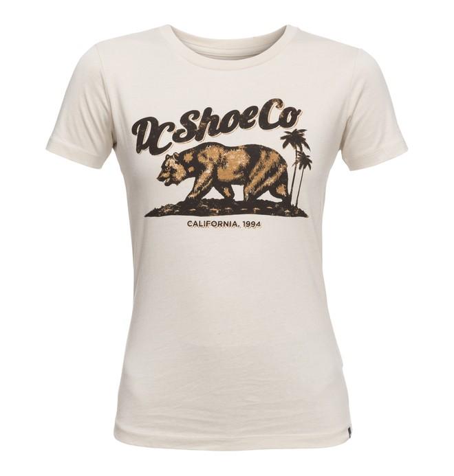 0 Bear And Palms - T Shirt col rond pour Femme  EDJZT03088 DC Shoes