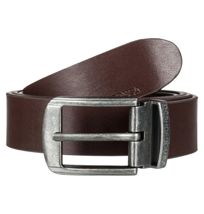 0 Men's Locked Bird Fake Leather Belt Brown EDYAA03135 DC Shoes