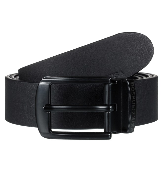 0 Men's Locked Bird Fake Leather Belt Black EDYAA03135 DC Shoes