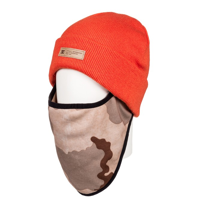 0 Variable Face Warmer Beanie Orange EDYAA03141 DC Shoes