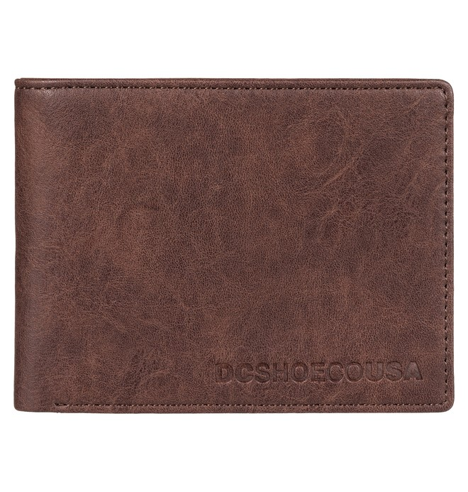 0 Big Message - Bi-Fold Wallet for Men Brown EDYAA03148 DC Shoes
