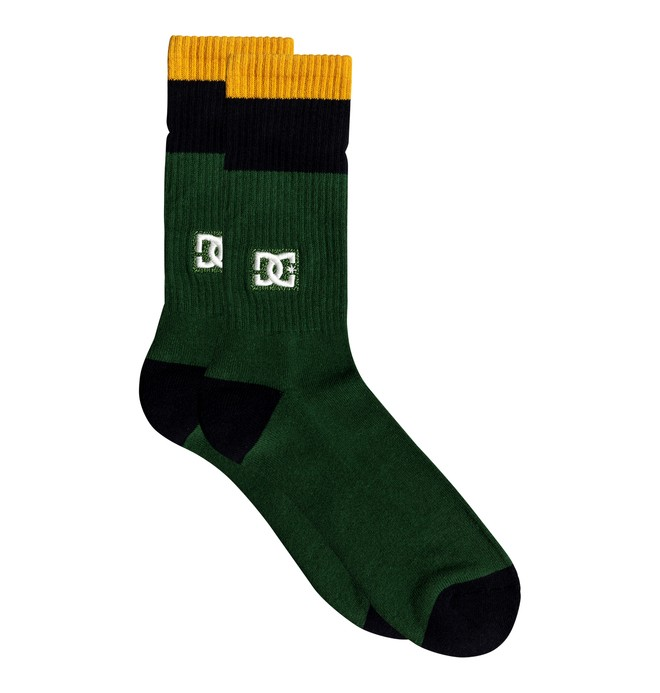 0 To Me Two - Mi-chaussettes pour Homme Vert EDYAA03172 DC Shoes