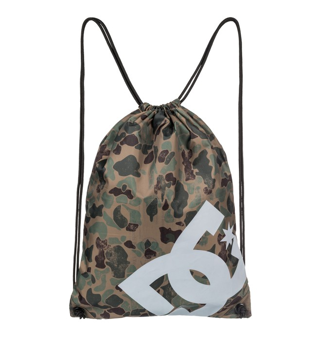 0 Men's Cinched Drawstring Backpack Brown EDYBA03028 DC Shoes
